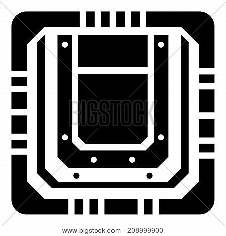 Modern microchip icon. Simple illustration of modern microchip vector icon for web