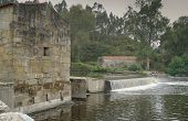 Old watermill close to Ponte do Ave, sights along the Camino de Santiago trail, Portugal poster