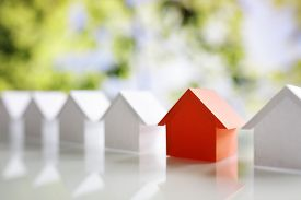 Choosing the right real estate property, house or new home in a housing development or community