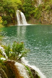 Plitvice lakes park in central part of Croatia