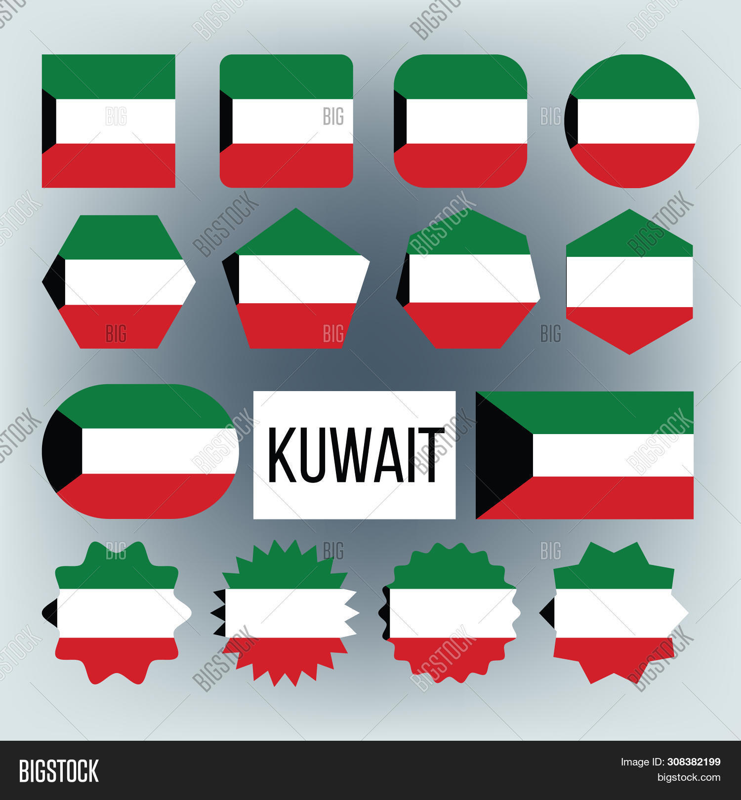 Kuwait Flag Collection Image Photo Free Trial Bigstock