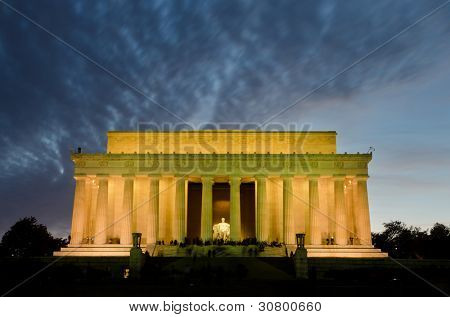 Lincoln Memorial at night, Washington DC USA