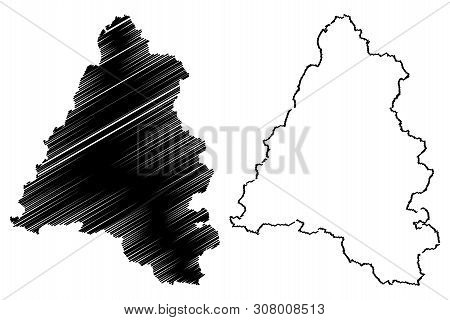 Bihor County (administrative Divisions Of Romania, Nord-vest Development Region) Map Vector Illustra