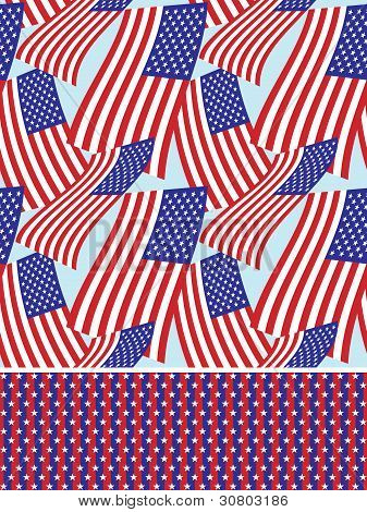 Stars and stripes seamless background pattern