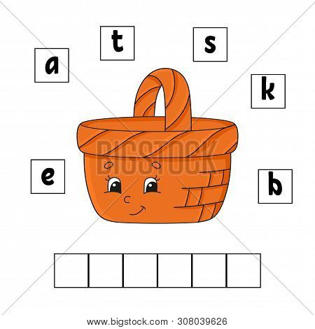Words Puzzle. Education Developing Worksheet. Learning Game For Kids. Activity Page. Puzzle For Chil