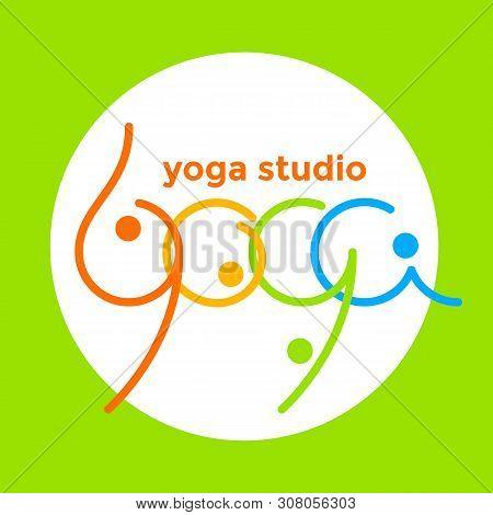 Yoga. Logo  Template For Yoga Studio. Health Care, Beauty, Spa, Relax, Meditation, Nirvana Concept D