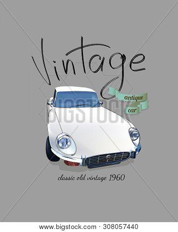Classic Old Vintage Car. Classic Old Vintage Car. Vector Illustration Auto.