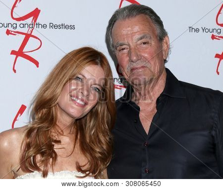 LOS ANGELES - JUN 23:  Michelle Stafford, Eric Braeden at the Young and The Restless Fan Club Luncheon at the Marriott Burbank Convention Center on June 23, 2019 in Burbank, CA