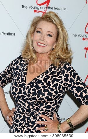 LOS ANGELES - JUN 23:  Melody Thomas Scott at the Young and The Restless Fan Club Luncheon at the Marriott Burbank Convention Center on June 23, 2019 in Burbank, CA