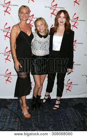 LOS ANGELES - JUN 23:  Sharon Case, Alyvia Alyn Lind, Camryn Grimes at the Young and The Restless Fan Club Luncheon at the Marriott Burbank Convention Center on June 23, 2019 in Burbank, CA
