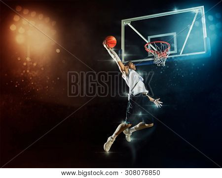 Basketball man player. Basketball concept