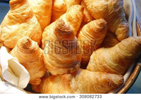 Croissant Bread On Buffet Line