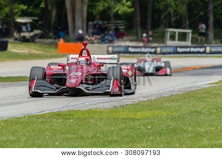June 23, 2019 - Elkhart Lake, Wisconsin, USA: ED JONES (20) of The United Emerates races through the turns during the  race for the REV Group Grand Prix at Road America in Elkhart Lake, Wisconsin.