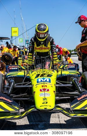 June 22, 2019 - Elkhart Lake, Wisconsin, USA: SEBASTIEN BOURDAIS (18) of France prepares to qualify for the REV Group Grand Prix at Road America in Elkhart Lake, Wisconsin.