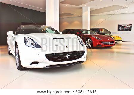 Kiev, Winter, December 2, 2013. Ferrari California & Ferrari Ff & Ferrari 458 Italia