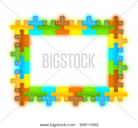 Color, Glossy, Brilliant And Jazzy Puzzle Frame 6 X 8