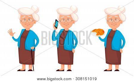 Grandmother, Set Of Three Poses