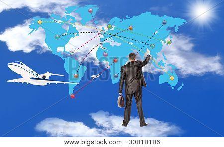 Air transport.Concept