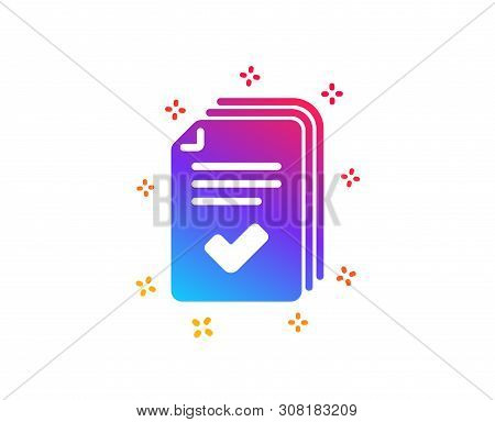Handout Icon. Documents Example Sign. Dynamic Shapes. Gradient Design Handout Icon. Classic Style. V