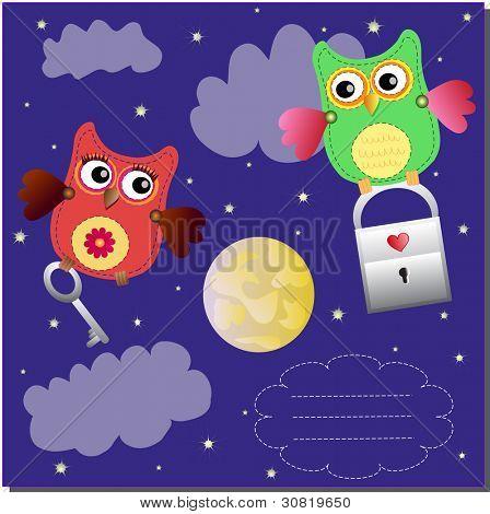 flyng little sweet owls