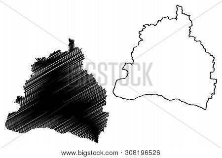 Dolj County (administrative Divisions Of Romania, Sud-vest Oltenia Development Region) Map Vector Il