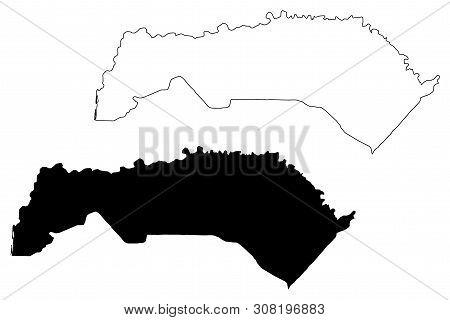 Saint-louis Region (regions Of Senegal, Republic Of Senegal) Map Vector Illustration, Scribble Sketc