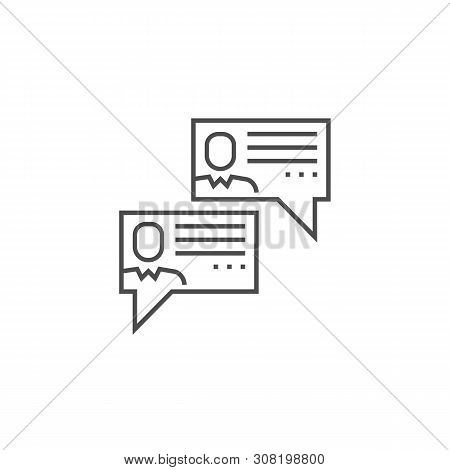 Social Chanels Related Vector Thin Line Icon. Isolated On White Background. Editable Stroke. Vector