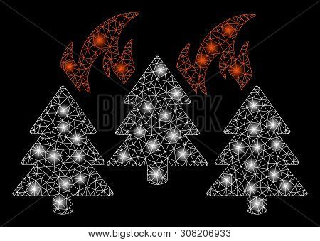 Flare Mesh Forest Vector Photo Free Trial Bigstock