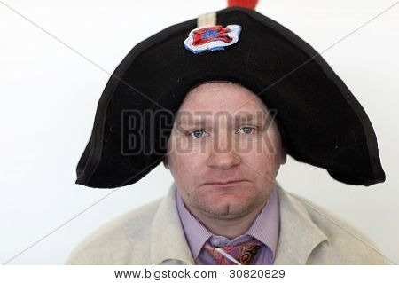 Man Posing In Bicorn Hat