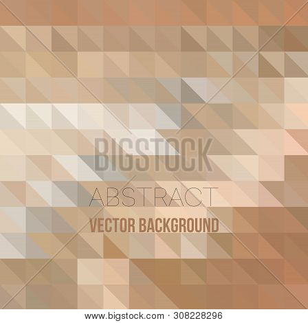 Abstract Light Brown Background With White Triangle Pattern