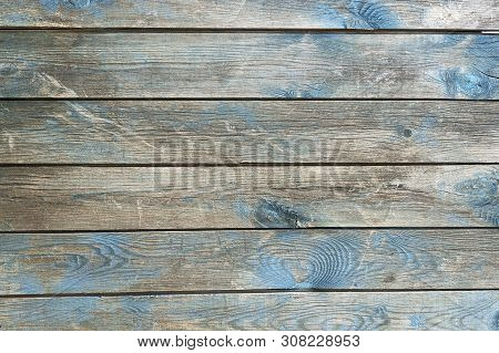 Texture Table Wooden Blue Background. Background Of The Tree, Planks Blue Color, Free Without Object