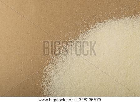 Dry gelatine powder and granules used as a gelling agent poster