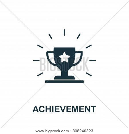 Achievement Vector Icon Symbol. Creative Sign From Gamification Icons Collection. Filled Flat Achiev
