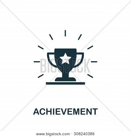 Achievement Icon Symbol. Creative Sign From Gamification Icons Collection. Filled Flat Achievement I