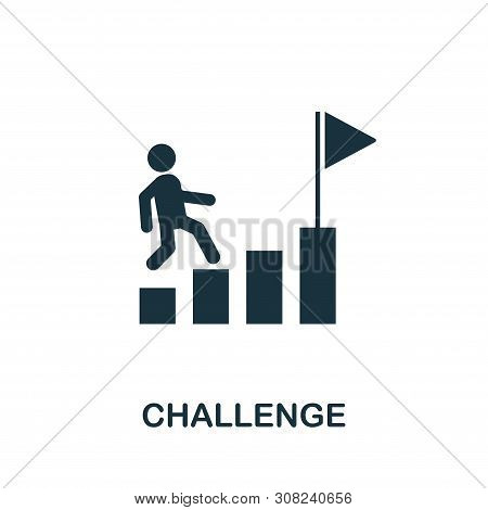 Challenge Icon Symbol. Creative Sign From Gamification Icons Collection. Filled Flat Challenge Icon