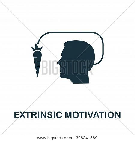 Extrinsic Motivation Vector Icon Symbol. Creative Sign From Gamification Icons Collection. Filled Fl