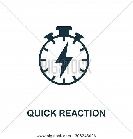 Quick Reaction Vector Icon Symbol. Creative Sign From Gamification Icons Collection. Filled Flat Qui