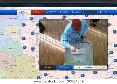 RUSSIA-MARCH 4:website web-election,project was financed with$430 million dollars, view from web cam presidential election of Russian Federation on March 4, 2012 in  Russia.