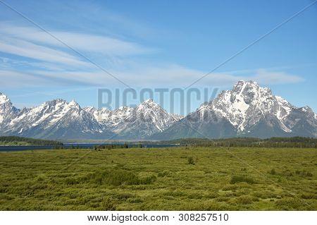 Grand Tetons Mountain Range In Wyoming, Usa