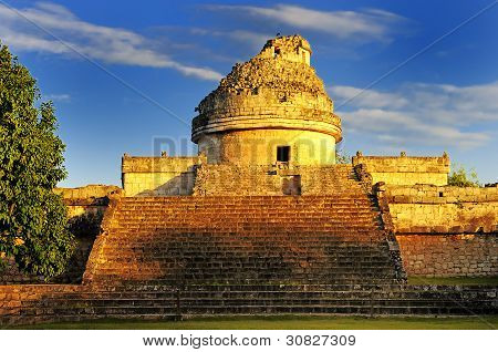 The Observatory At Chichen Itza,