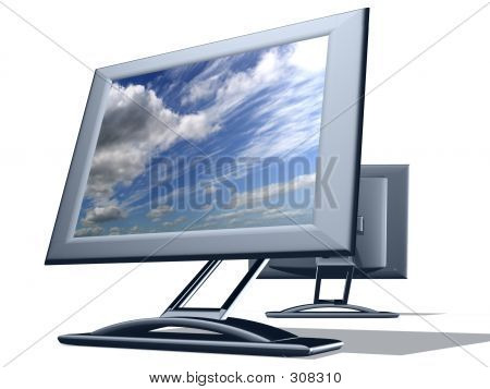 Two Tv Monitor