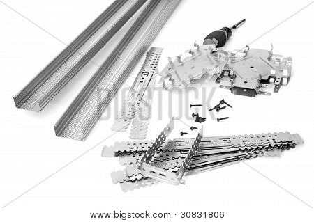 Many Components For Installation Of Gypsum Panels