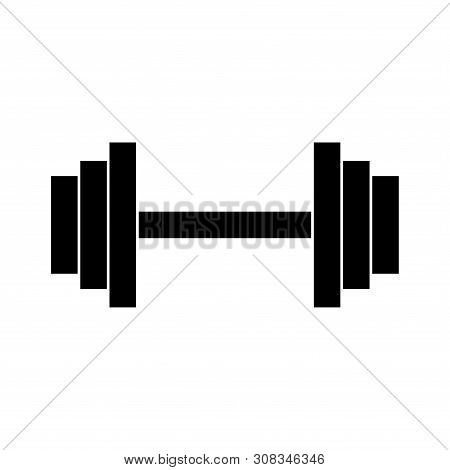 Barbell Icon . Barbell Icon Isolated On White Background. Barbell Icon Simple Sign. Barbell Icon Tre