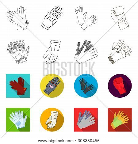 Vector Illustration Of Knitted And Keeper Logo. Collection Of Knitted And Hand Stock Vector Illustra
