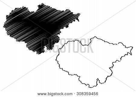Salaj County (administrative Divisions Of Romania, Nord-vest Development Region) Map Vector Illustra