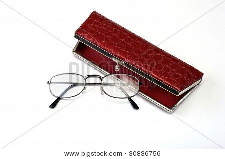 Old Glasses And Case.