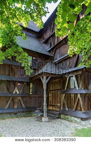 Bardejov, Slovakia - August 06, 2015: Hronsek. Old Fully Wooden One Of The Five Preserved Artucular