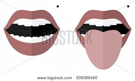 Smile With Open Mouth And A Mole On The Left Cheek. Monroe Marilyn. Open Mouth And Tongue Sticking O