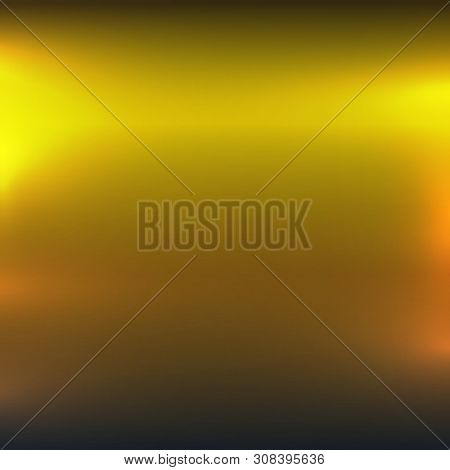 Polished Gold Or Nickel Background Template. Metallic Color Light Texture. Golden Textured Surface B