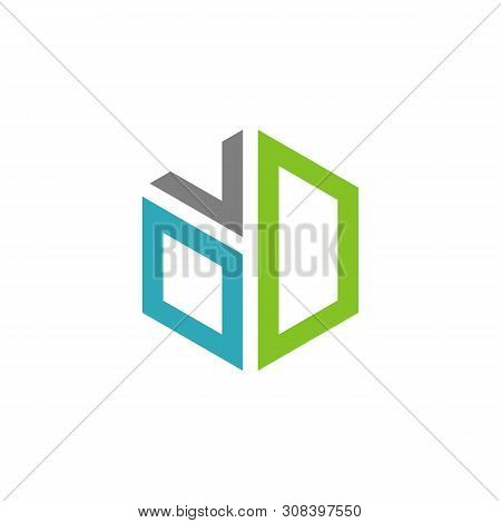 O V D Letter Hexagon Logo Template Illustration Design. Vector Eps 10.